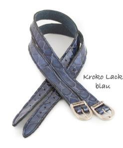 Krokolack Blau