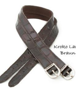 Krokolack Braun