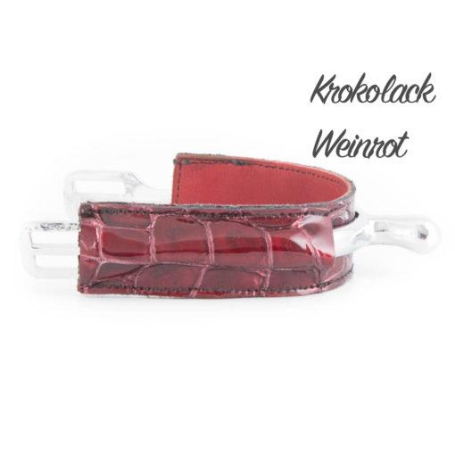 Krokolack Weinrot