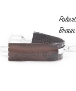 Poliert Braun