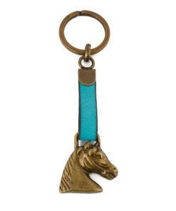 Schlüsselanhänger Pferd Gold/Bunt (mehrere Farben)-0