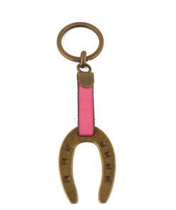 Schlüsselanhänger Hufeisen Gold/Bunt (mehrere Farben)-0