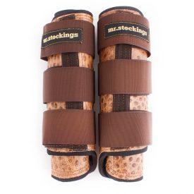 Mr. Stockings Leder-Vordergamaschen Strauss Camel WB (Lagerware)-0