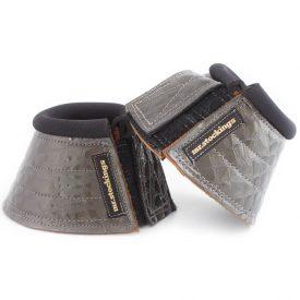 Mr. Stockings Hufglocken Krokolack grau VB (Lagerware)-0