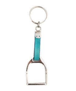 Schlüsselanhänger Steigbügel Silber/Bunt (mehrere Farben)-0